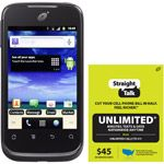 Straight Talk Huawei Ascend II M865C Prepaid Cell Phone with $45 Unlimited Card, Refurbished