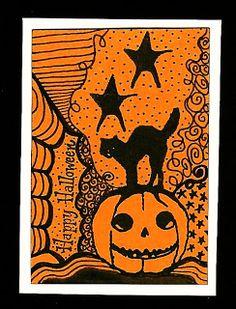 halloween zentangle | Nostalgic Halloween: TMTA - Zentangle Halloween