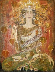 """What a strange creature fear is. It exists only when there is resistance to its existence. When you stop and open to what you have resisted throughout time, you find that fear is not fear. Fear is energy. Fear is space. Fear is the Buddha. It is Christ's heart knocking at your door."" —Gangaji (Art: ""Illumination"" by Anne-Marie Zilberman) ..*"