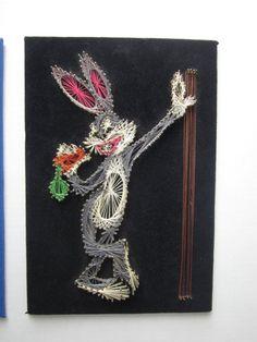 Bugs Bunny  70s Era String Art  Warner Bros by WhatsOnTheShelf, $50.00