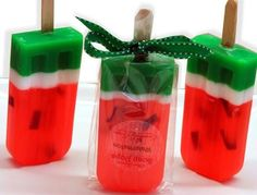 How To Make Watermelon Popsicle Soap As A Gift