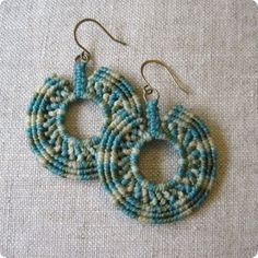Renegade handmade macrame earrings