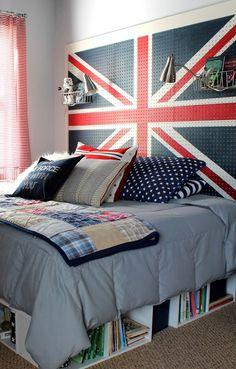 originelle schlafzimmer ideen f r bett kopfteil selber. Black Bedroom Furniture Sets. Home Design Ideas