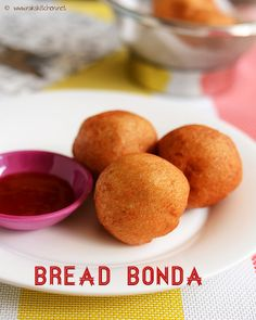 Bread bonda recipe - Learn how to make this easy snack for evening snacks for kids, with full video and step by step pictures!