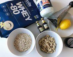 Sockerfria proteinbollar med citron och lakrits