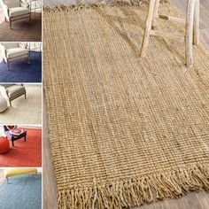 nuLOOM Handmade Eco Natural Fiber Chunky Loop Jute Rug x - Overstock™ Shopping - Great Deals on Nuloom - Rugs Jute Rug, Rugs Usa, Floor Rugs, Colorful Rugs, Hand Weaving, Area Rugs, Handmade, Fiber, Fast Growing