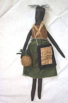 OOAK Primitive Black Mammy Doll Folk Art by stitchintimepatterns, $28.95