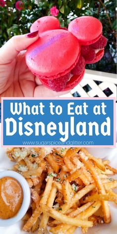 Best Eats at Disneyland ⋆ Sugar, Spice and Glitter What to Eat at Disneyland - the best Disneyland food and drink on a budget, including a free printable bucket list for all the food recommendations Comida Disneyland, Best Disneyland Food, Disneyland Dining, Parc Disneyland Paris, Disneyland Secrets, Disney Dining, Best Disneyland Restaurants, Disneyworld Food, Disneyland Ideas