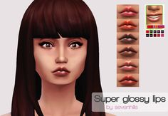 sevenhills-sims:   Super Glossy Lips  Here are 6... - Sims 4 CC Finds
