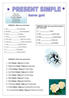 To be and have got, Present Simple - English ESL Worksheets for distance learning and physical classrooms English Teaching Materials, Teaching English Grammar, English Grammar Worksheets, English Verbs, English Language Learning, School Worksheets, English Vocabulary, Printable Worksheets, Lkg Worksheets