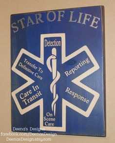 EMT/Paramedic Wall Art EMS Decor by DeenasDesign - https://www.facebook.com/DeenasDesign - $36.00