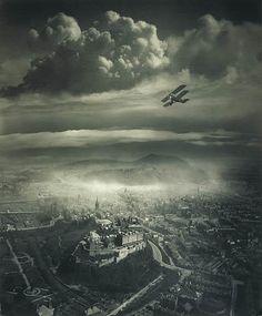 Vue aérienne d'Edimbourg.