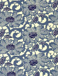 Wedgewood Blue Peony-Chiyogami