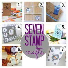 7 stamp crafts (via @thecraftblog )