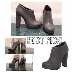 "HOST PICK!NEW✨Michael Antonio Boots Host Pick for Date Night Party (1/25)!  I absolutely LOVE these! I bought them online for $60, but the heel was too tall for my need! Very comfortable despite the height, AMAZING BOOTS! I wanted to return but was too late. My loss is your gain!  NEW. Never worn except to model in this photo.  1"" Platform  5"" Heel  Side zipper   ❌NO Paypal or Trades! Questions? PLEASE ASK! Michael Antonio Shoes"