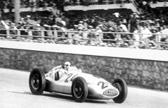 Tripoli Grand Prix, May 7, 1939. Rudolf Caracciola finished in second place driving a Mercedes Silver Arrow. His team mate Hermann Lang won for the third time in succession.