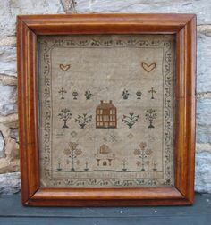 Philadelphia Botting's 1830 Sampler.  This one was reproduced by Cardin House. kh