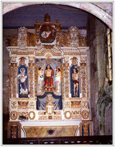 Commana, (Enclos paroissial de Commana) chiesa di san Derrien, Cristo Re incoronato dagli Angeli, Bretagna, 1992