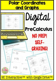 Use this digital LOW PREP resource for Polar Coordinates and Graphs designed with Google Forms™ for your PreCalculus students as an assessment, homework, or paperless assignment. There are 18 self-grading questions related to your unit on Applications of Trigonometry with a variety of question stems. #Google #DigitalPreCalculus Classroom Management Styles, Parametric Equation, We Are Teachers, Teacher Survival, Precalculus, Graph Design, Trigonometry, Blended Learning, Teaching Strategies