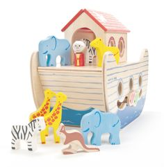 noah's wooden ark - Indigo Jamm designer toys from a UK based company
