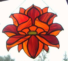 Chakra Stained Glass Lotus FLower by Lightworksartworks on Etsy, $45.00