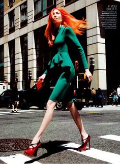 Neon-Haired Workplace Fashion - 'Her Brilliant Career' by David Sims for Vogue Magazine is Polished (GALLERY)