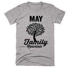 MAY Family Name Reunion Gathering Surname T-Shirt