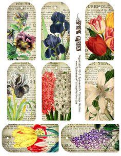 Ephemera's Vintage Garden: Free Printable - Spring Garden Tags