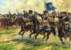 And finally Swedish dragoons (or so said the box) but that look much more like proper shock cavalry than their Russian counterparts