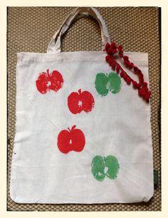Bolsas de algodón orgánico pintadas a mano