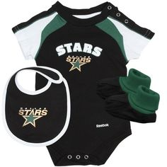 Reebok Dallas Stars Newborn Creeper, Bib & Booties « Clothing Impulse