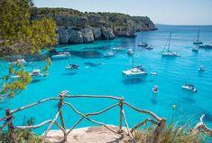 11 förbisedda resmål att upptäcka i Europa | ELLE Spanish Islands, Greek Islands, Menorca, Ibiza, Destinations, Europe, Balearic Islands, Crystal Clear Water, Costa
