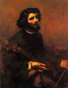 Gustave Courbet - The Cellist, Self Portrait (1847).