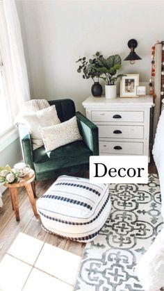 Room Ideas Bedroom, Home Decor Bedroom, Bedroom Decorating Ideas, Bedroom Wall, Nursery Ideas, Boho Living Room, Living Room Decor, Bohemian Living, Cozy Living