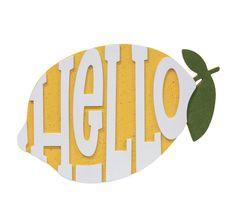 Hello Lemon sign