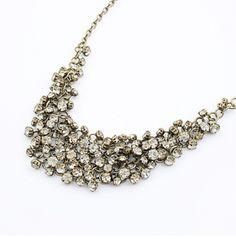 Vintage Bohemian Style Beaded Rhinestone Necklace