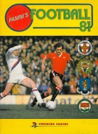 Panini Football 81 Album Cover    I was such a tomboy, read Match and Shoot and collected Panini stickers! Happy days :)