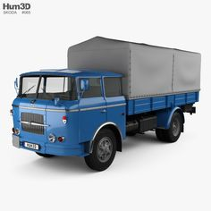 model of Skoda 706 RT Flatbed Truck 1957 Car 3d Model, Trucks, Commercial Vehicle, Cars And Motorcycles, Diorama, Jeep, Classic Cars, Nostalgia, History