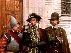 """ГРАФИНЯ ДЕ МОНСОРО""-filming the series ""The Countess de Monsoreau""  the image of the hero of the Comte de Bussy (played by actor A. Domogarov) Duke of Anjou (actor K. Kazakov)."