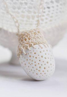 Cerâmica e crochê