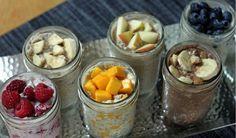 Mezcla, tapa, refrigera y por la mañana tendrás un desayuno para el trayecto. Las combinaciones son infinitas. ¿Suena perfecto? Lo es.