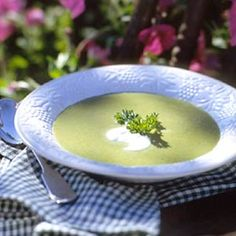 Prepare this creamy first-course soup recipe to serve with grilled meats.