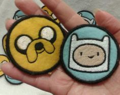Adventure Time! Finn and Jake Sew On Patches
