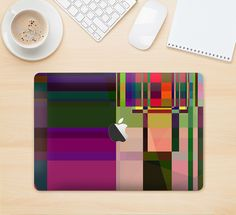 """The Various Colorful Intersecting Shapes Skin Kit for the 12"""" Apple MacBook from DesignSkinz"""