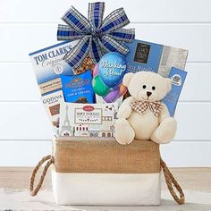 Bear Hugs - Thinking of You Gift Basket at Wine Country Gift Baskets Happy Birthday Messages, Very Happy Birthday, Bff Birthday, Birthday Gifts, Walkers Shortbread Cookies, Thank You Gift Baskets, Wine Country Gift Baskets, Get Well Soon Gifts, Gifts For New Parents