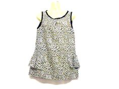 Peplum Top - Leopard Print Top - Sleeveless Top - Evening Top - Top - High Neck Top - Size 8 - Size 10 - Size Small by RebeccasClothes on Etsy Custom Made T Shirts, Evening Tops, High Neck Top, Leopard Print Top, Vintage Tops, Black Tops, 1960s, Ready To Wear, Vintage Outfits
