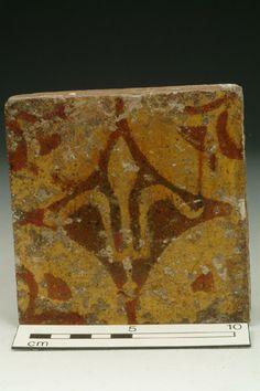 Floor tile, 14th century   Museum of London