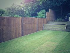 Another from Aye Gardening. Closeboard fence panels and sleepers.