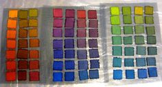 Sabraset dyes (Pro Chemical's Lanaset dyes) on raw silk fabric. Spinning Wool, Hand Spinning, Raw Silk Fabric, Yarn Colors, Surface Design, Fiber Art, Hand Knitting, Book Art, Hand Weaving
