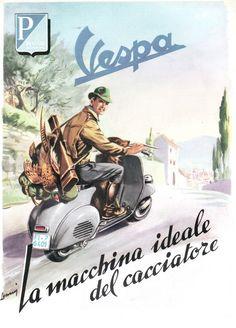 Old School Cool: Photo 1954 Piaggio Vespa magazine advertisment Vintage Vespa, Vintage Ads, Vintage Travel Posters, Vespa 125, Piaggio Vespa, Vespa Lambretta, Motor Scooters, Vespa Scooters, Vespa Modelle